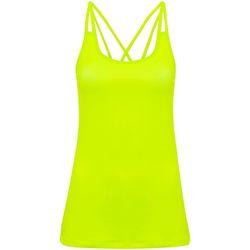 Vêtements Femme Débardeurs / T-shirts sans manche Tridri TR029 Jaune fluo