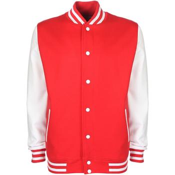 Vêtements Blousons Fdm Contrast Rouge feu/Blanc