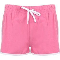 Vêtements Femme Shorts / Bermudas Skinni Fit Retro Rose/blanc