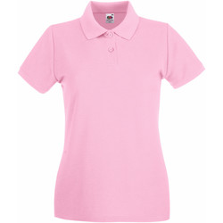 Vêtements Femme Polos manches courtes Fruit Of The Loom Premium Rose clair