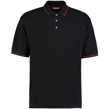 Vêtements Homme Polos manches courtes Kustom Kit Mellion Noir/Rouge vif