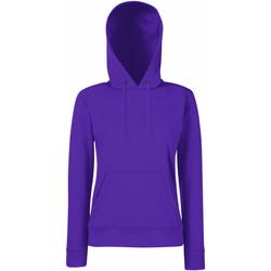 Vêtements Femme Sweats Fruit Of The Loom Hooded Violet