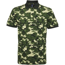 Vêtements Homme Polos manches courtes Asquith & Fox Camo Vert camouflage