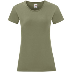 Vêtements Femme T-shirts manches courtes Fruit Of The Loom Iconic Kaki