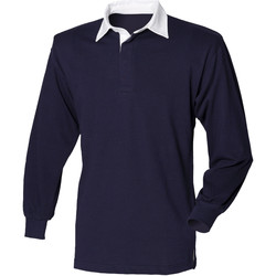 Vêtements Homme Polos manches longues Front Row Rugby Bleu marine/Blanc