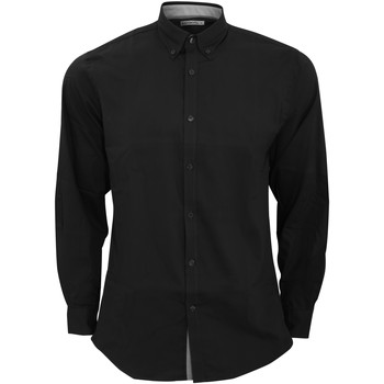 Vêtements Homme Chemises manches longues Kustom Kit KK190 Noir/Argent
