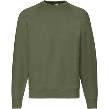 Vêtements Homme Sweats Fruit Of The Loom Raglan Vert kaki