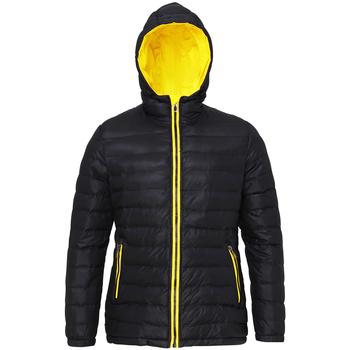 Vêtements Femme Doudounes 2786 Hooded Noir/Jaune