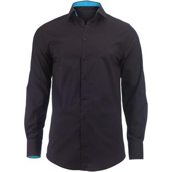 Vêtements Homme Chemises manches longues Alexandra Hospitality Noir/Bleu