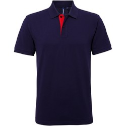 Vêtements Homme Polos manches courtes Asquith & Fox AQ012 Bleu marine/Rouge