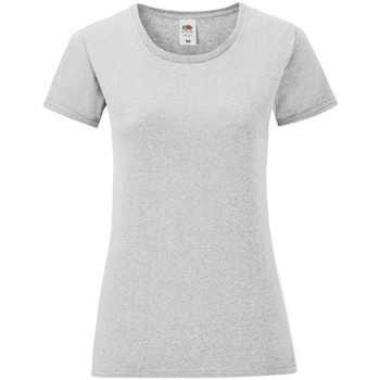 Vêtements Femme T-shirts manches courtes Fruit Of The Loom Iconic Gris chiné