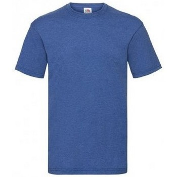Vêtements Homme T-shirts manches courtes Fruit Of The Loom Valueweight Bleu roi chiné