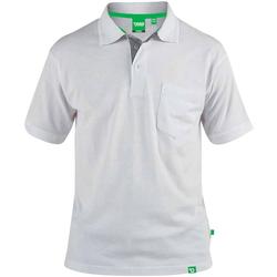 Vêtements Homme Polos manches courtes Duke Pique Blanc