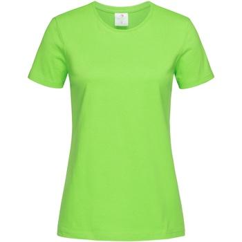 Vêtements Femme T-shirts manches courtes Stedman Classics Vert kiwi