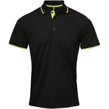 Vêtements Homme Polos manches courtes Premier Coolchecker Noir/Vert citron