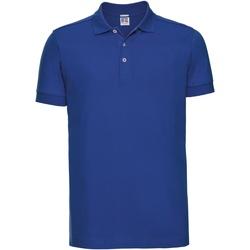 Vêtements Homme Polos manches courtes Russell Polo uni slim BC3257 Bleu roi vif