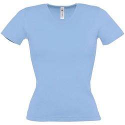 Vêtements Femme T-shirts manches courtes B And C BA116 Bleu ciel