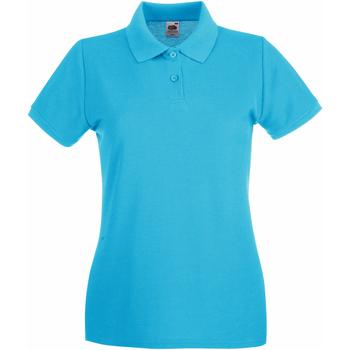 Vêtements Femme Polos manches courtes Fruit Of The Loom Premium Bleu azur