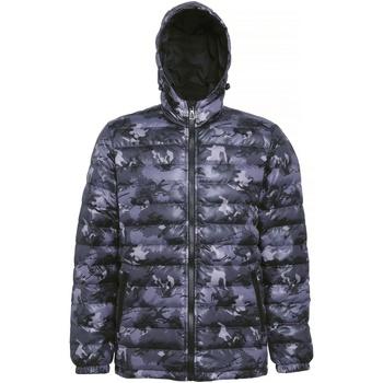 Vêtements Homme Doudounes 2786 Hooded Gris camouflage