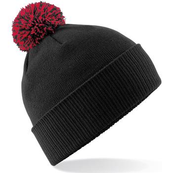 Accessoires textile Fille Bonnets Beechfield Snowstar Noir / rouge