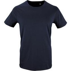 Vêtements Homme T-shirts manches courtes Sols Milo Bleu marine