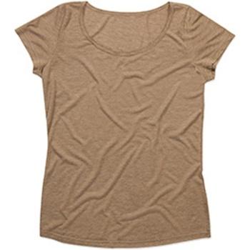 Vêtements Femme T-shirts manches courtes Stedman Stars Melange Marron