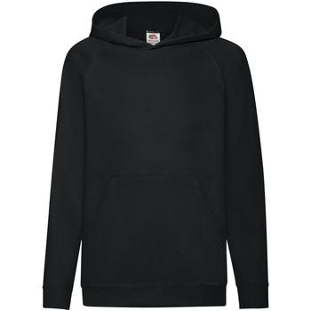 Vêtements Enfant Sweats Fruit Of The Loom Hooded Noir