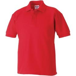 Vêtements Garçon Polos manches courtes Jerzees Schoolgear Pique Rouge vif