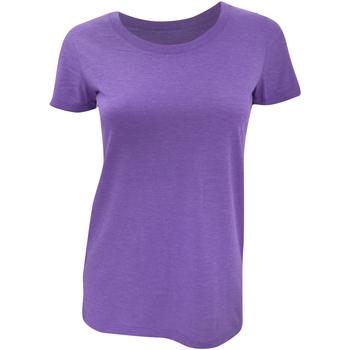 Vêtements Femme T-shirts manches courtes Bella + Canvas Triblend Violet