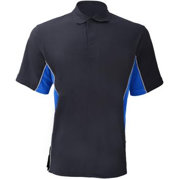 Vêtements Homme Polos manches courtes Gamegear KK475 Bleu marine/Bleu clair/Blanc