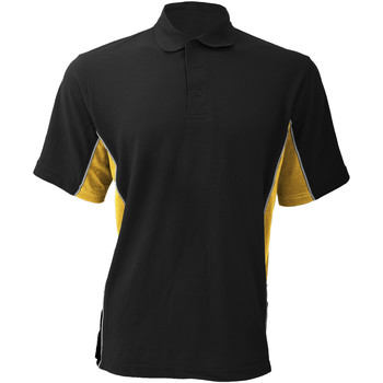 Vêtements Homme Polos manches courtes Gamegear KK475 Noir/Jaune/Blanc