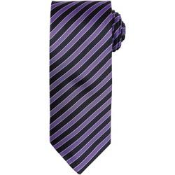 Vêtements Homme Cravates et accessoires Premier Stripe Violet/Noir
