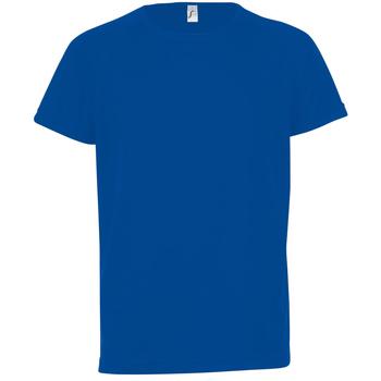 Vêtements Enfant T-shirts manches courtes Sols Sporty Bleu roi