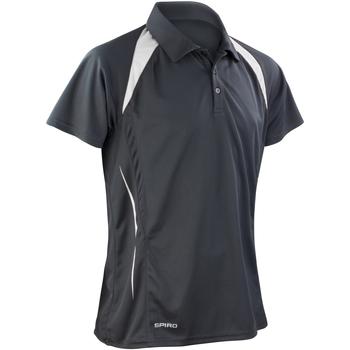 Vêtements Homme Polos manches courtes Spiro Performance Noir/Blanc