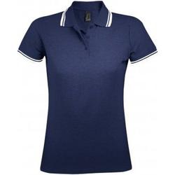 Vêtements Femme Polos manches courtes Sols Pasadena Bleu marine/blanc
