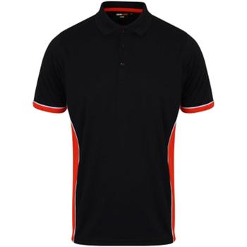 Vêtements Homme Polos manches courtes Finden & Hales Contrast Bleu marine/Rouge/Blanc