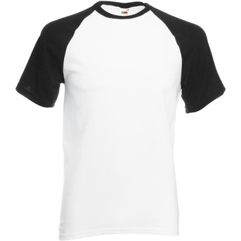 Vêtements Homme T-shirts manches courtes Fruit Of The Loom Baseball Blanc/Noir