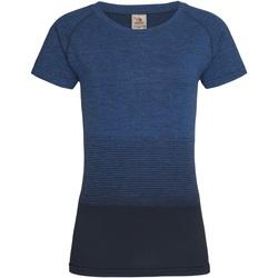 Vêtements Femme T-shirts manches courtes Stedman Active Bleu