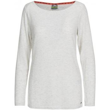 Vêtements Femme T-shirts manches longues Trespass Daintree Blanc chiné