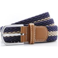 Accessoires textile Homme Ceintures Toutes les chaussures femme Two Colour Stripe Bleu marine/Kaki