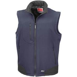 Vêtements Homme Gilets / Cardigans Result Softshell Bleu marine/Noir