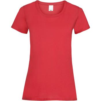 Vêtements Femme T-shirts manches courtes Universal Textiles 61372 Rouge vif