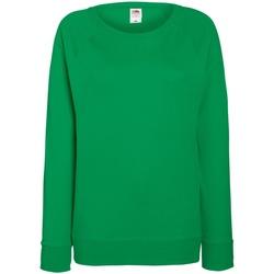 Vêtements Femme Sweats Fruit Of The Loom Raglan Vert tendre