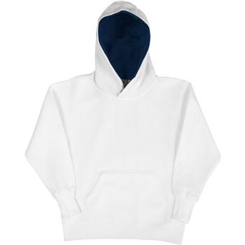 Vêtements Enfant Sweats Sg Contrast Blanc/Bleu marine