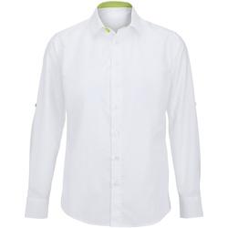 Vêtements Homme Chemises manches longues Alexandra Hospitality Blanc/Vert citron