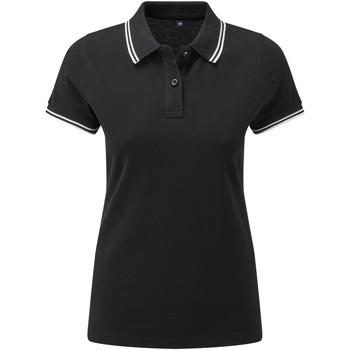 Vêtements Femme Polos manches courtes Asquith & Fox Classics Noir / blanc
