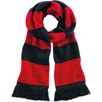 Accessoires textile Echarpes / Etoles / Foulards Beechfield Varsity Noir/Rouge