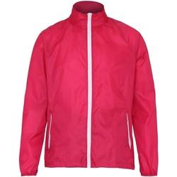Vêtements Homme Coupes vent 2786 Contrast Rose/Blanc