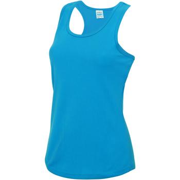 Vêtements Femme Débardeurs / T-shirts sans manche Just Cool Girlie Bleu saphir