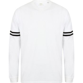 Vêtements Homme T-shirts manches longues Skinni Fit Slogan Blanc/noir